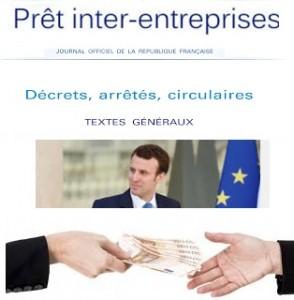 Prets inter-entreprises macron
